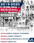 Thompson named North Atlanta Region Positive Athlete Winner