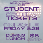 Football: Student tickets for Alcovy Game on Sale Friday