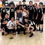 Don Lugo High School Boys Varsity Volleyball beat Garey High School 3-2