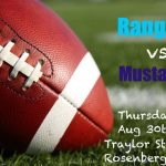 Buy Tickets NOW | Mustangs vs Rangers Varsity Football – Thursday, Aug 30th 6 PM