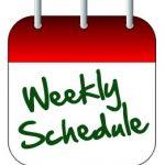 WEEKLY SCHEDULE – TRAVIS WEEK