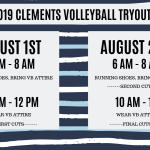 2019 Clements Volleyball Tryouts