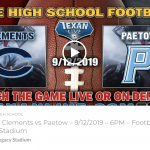 GAME DAY!! CHS Rangers vs Katy Paetow Panthers at Legacy Stadium   6 PM Kickoff