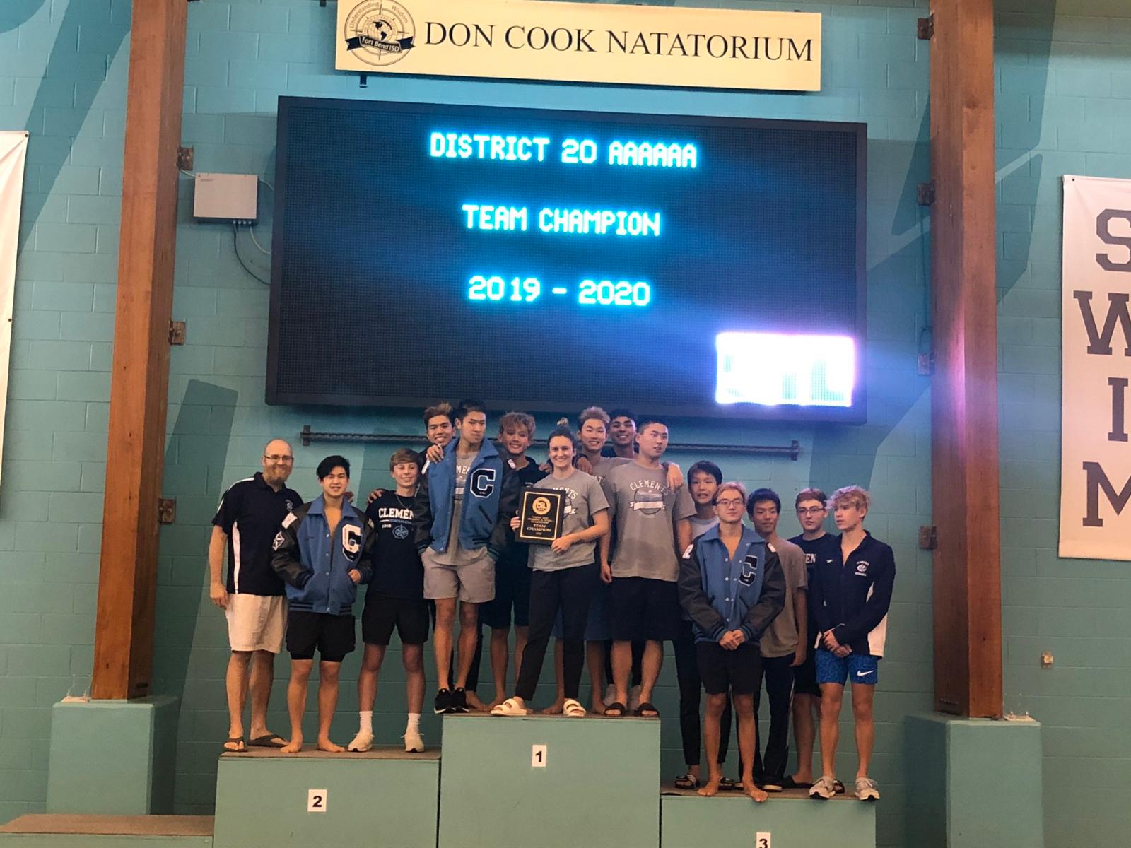 CHS Boys Swim Team Earns 2019-2020 | 20-6A District Championship!!