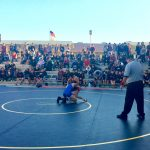 Segerstrom High School Boys Varsity Wrestling beat Santa Ana Valley High School 43-36