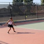 Girls Varsity Tennis falls to Westminster 10 – 8