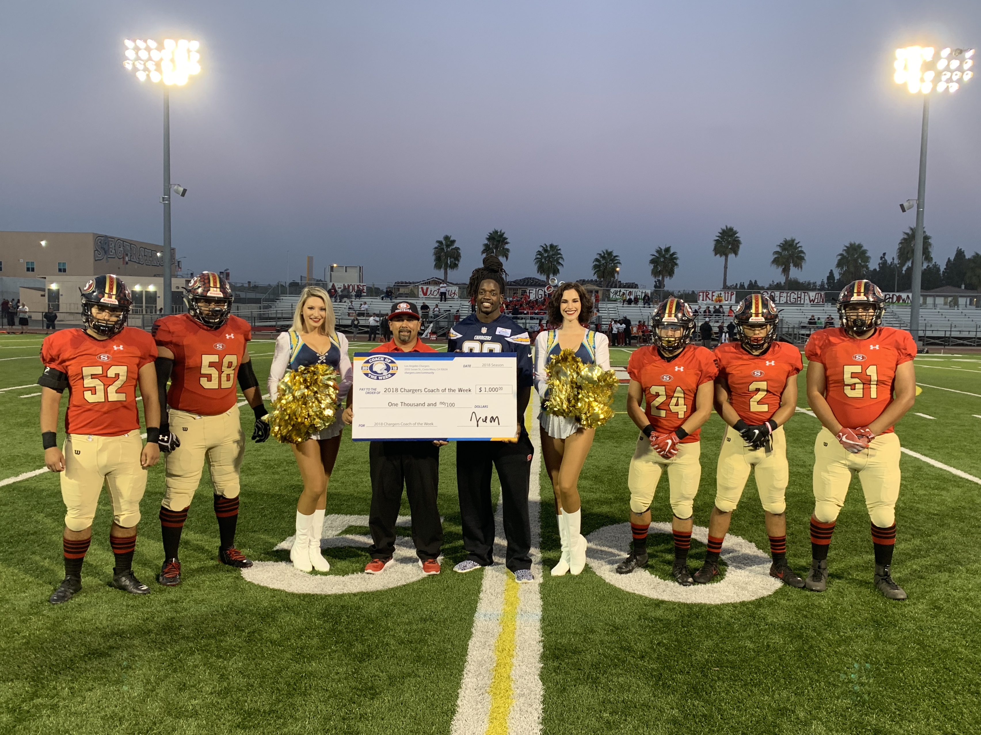 Chargers Recognize Coach Tagaloa as OC Coach of the Week!