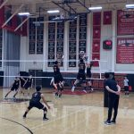 Boys Varsity Volleyball beats Westminster 3 – 2