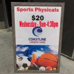Athletics Physical Exams – Wednesday 9am-4:30pm