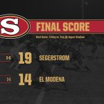 Boys Varsity Football beats El Modena 19 – 14