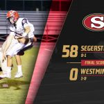 Boys Varsity Football beats Westminster 58 – 0