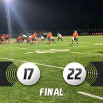 Varsity Football falls short against Katella, 22-17