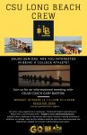 LBSU Crew Informational Meeting – Monday, 3:15pm