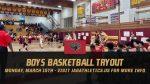 Boys Basketball Tryout