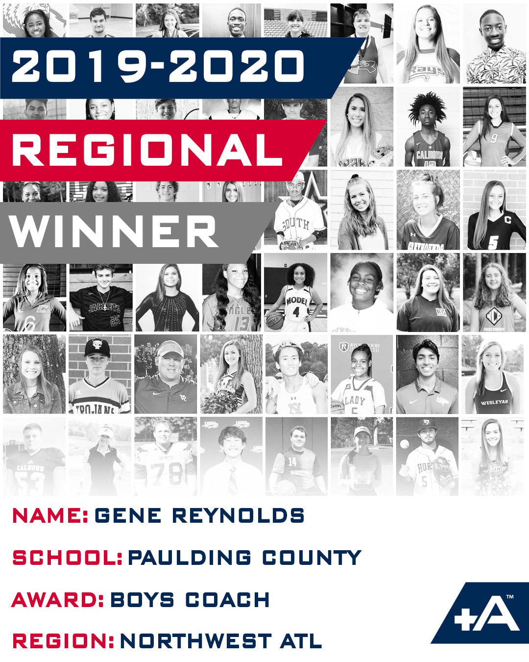 Congrats Coach Reynolds for being selected as Regional Winner for Positive Athlete
