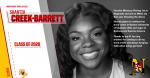 Class of 2020- Shantia Creek-Barrett, Track & Field