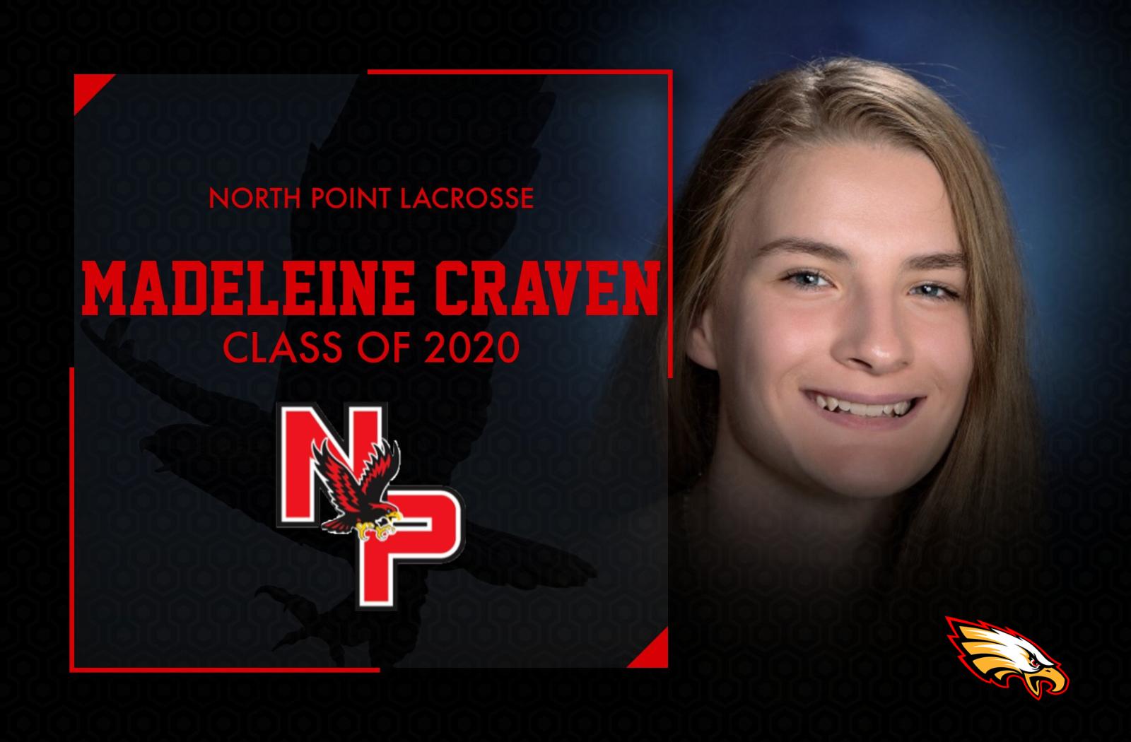 Class of 2020- Madeleine Craven, Lacrosse