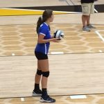 Waldron High School Girls Varsity Volleyball falls to Morristown High School 3-1