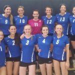 Waldron High School Girls Varsity Volleyball beat South Decatur High School 2-1