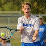 Waldron High School Boys Varsity Tennis falls to Lutheran High School 4-1
