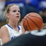Waldron High School Girls Varsity Basketball falls to Rising Sun High School 40-38