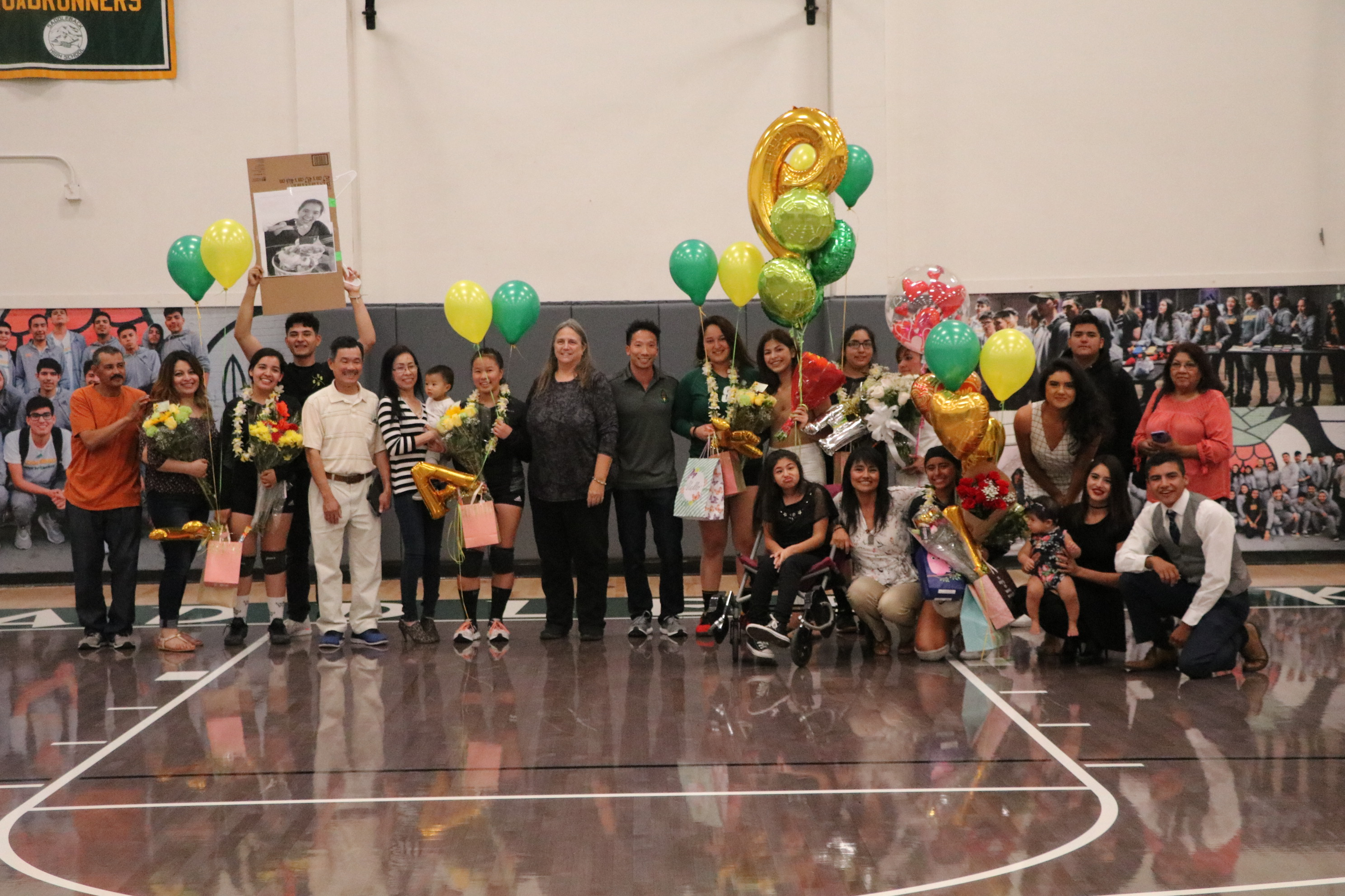 2018 Girls Varsity Volleyball Senior Night