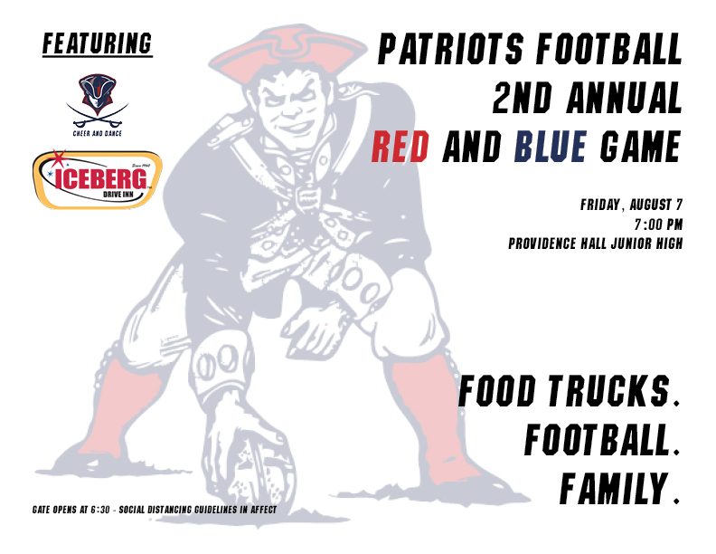 FB Red and Blue Game This Friday
