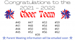 Cheer Team 2021-22