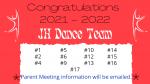 Junior Dance Team 2021-22