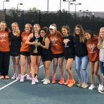 Girls Varsity Tennis beats Carrollton 3 – 2
