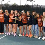 Girls Varsity Tennis beats Carrollton 3 – 2
