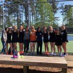 Girls Varsity Tennis beats Johnson 4 – 0