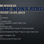 This Week in Lake Nona Athletics: Aug 19-27, 2019