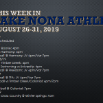 This Week in Lake Nona Athletics: August 26-31, 2019