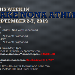 This Week In Lake Nona Athletics: Week of Sept 2-7, 2019