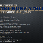 This Week in Lake Nona Athletics: September 16-21, 2019
