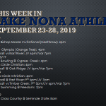 This Week in Lake Nona Athletics: September 23-28, 2019