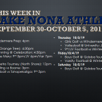 This Week in Lake Nona Athletics: Sept 30-October 5, 2019