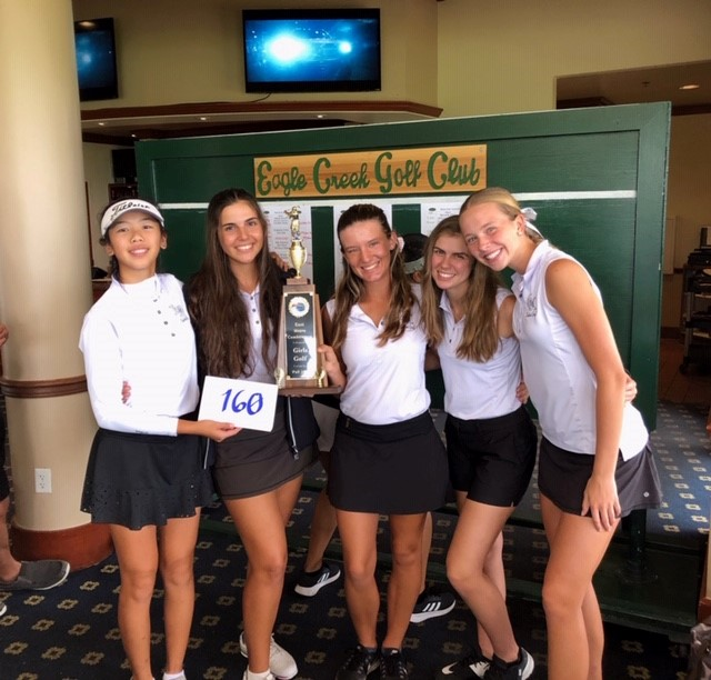 3-PEAT Conference Champions 2019 (Girls Golf)