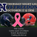 Football Week 9: Lake Nona vs Freedom PINK OUT!