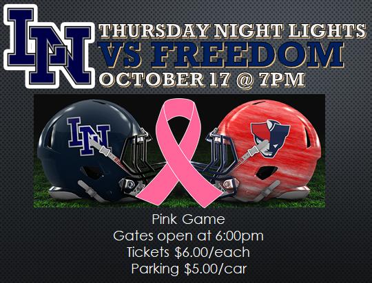 Football Week 8: Lake Nona vs Freedom PINK OUT!