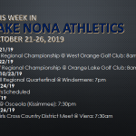 This Week in Lake Nona Athletics: October 21-26, 2019