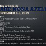 This Week in Lake Nona Athletics: November 4-9, 2019