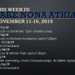 This Week in Lake Nona Athletics: November 11-16, 2019