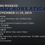 This Week in Lake Nona Athletics: November 11-16, 2019