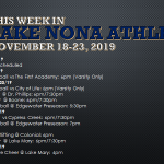 This Week in Lake Nona Athletics: November 18-23, 2019