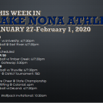 This Week in Lake Nona Athletics: January 27-February 1, 2020