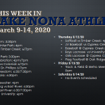 This Week in Lake Nona Athletics: March 9-14, 2020