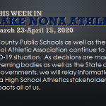 This Week in Lake Nona Athletics: March 23-April 15, 2020