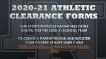 Athletic – Student Clearance 2020-2021